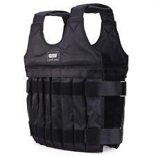 Adjustable Weighted Vest Jacket Workout Exercise Boxing Training Waistcoat US