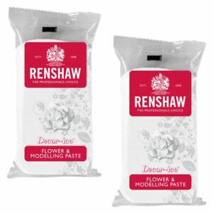 2 x Renshaw Edible Flower & Modelling Paste Cake Sugarcraft - White - 2 x 250g