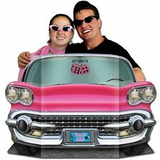 Beistle Mens Womens Pink Convertible Photo Prop New 1950s Car 50s Fifties Party