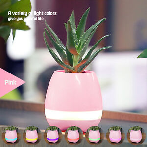 Music Pot Plant With Speaker Bluetooth&LED Colorful Night Light for Living Room