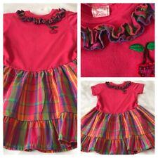 S new NWT BUSTER BROWN girls Polyester Ruffled Drop Waist Heart Dress sz 4