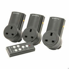 More details for remote control mains socket energy saving mains power adapter set of 3