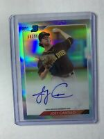 Joey Cantillo 2020 Bowman Heritage Refractor Autograph/Auto #58/99 Padres