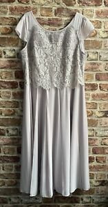 BEAUTIFUL SILVER GREY JACQUES VERT DRESS WEDDING / MOTHER OF THE BRIDE 14 BNWT