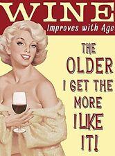 Wine Improves With Age... funny fridge magnet   (og)