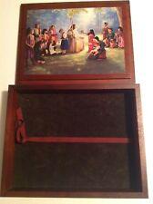 "Bible Storage Box Wood Combo Trinket Box Handmade 9.5"" X 12"""
