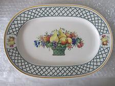 """Villeroy & Boch Porcelain BASKET 13"""" Oval Serving Platter  #1"""