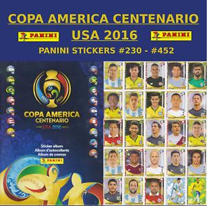 PANINI COPA AMERICA CENTENARIO USA 2016 - STICKERS #230 - #452