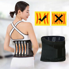 Back Pain Relief Support Belt Breathable Design Lumbar Pad Adjustable Straps XL