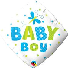 """Foil 18"""" Baby Boy Dots & Dragonfly Balloon for Party Accessory"""