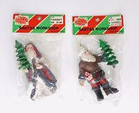 Vtg Lot 1986 Santa Ornaments Plastic Hanging Christmas Holiday by Target NOS