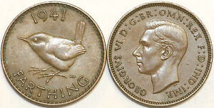 1937 to 1952 George VI Bronze Farthing Your Choice of Date / Year Multibuy