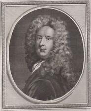 1786 Fine Engraving - Portrait of Sir Samuel Garth M.D., Poet - Godfrey Kneller