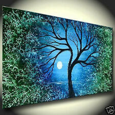 """Art Repro Modern Abstract oil painting:""""Tree In canvas"""" 24x48 Inch"""
