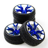 4Pcs Tires and Wheel Hub 12mm Hex For HSP HPI RC 1:10 On Road Model Car MPNWB&50