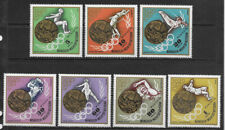 MONGOLIA , 1972 OLYMPICS , WINNERS ,  SPORTS , SET OF 7 STAMPS , PERF , MNH