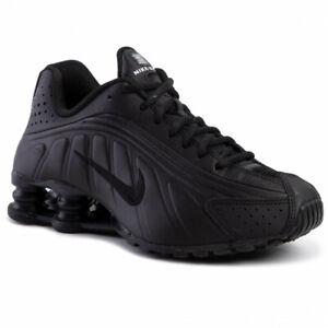 NIKE SHOX R4 GS BQ4000 001 Unisex Kinder Sneaker Sportschuhe Schwarz Gr. 36-38,5
