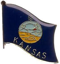 State of Kansas KS Flag Bike Motorcycle Hat Cap lapel Pin