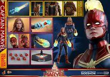 """Captain Marvel Deluxe Brie Larson Avengers 1/6 Marvel MMS522 12"""" Figur Hot Toys"""