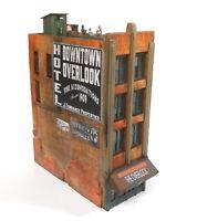 Downtown Deco HO Scale Building Kit Downtown Overlook Hotel + Decals & Bonus