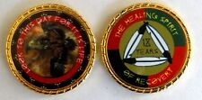 """Alcoholics Anonymous 18 Year Native American Rope Edge Sobriety Coin Chip 1 3/4"""""""