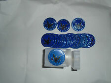 25 Eisenhower Uncirculated Silver Dollar Blue Ike Plastic Mint Set Tokens Chips