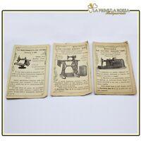 Lotto Pubblicità Singer 20 99 128 Macchina da per cucire antica Antico libretto