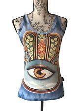 Weed Clothing 100% Natural Cotton Tunic T Shirt Top Seeing Eye Retro Hippy Art