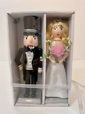 BRIDE AND GROOM NUTCRACKERS FOR THE SPECIAL OCCASION -10""