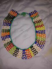 Beaded choker Necklace18in. Handmade African Multi Strand