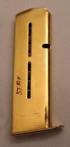 Star Model B 9mm Largo Gold Plated Magazine w/engraved floor plate