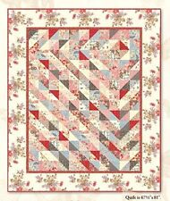 Sweet Romance Quilt Kit - Pattern + Beautiful Moda Antique Reproduction Fabric