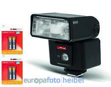 Metz MB M 400 Blitz Systemblitz Anschluss für Nikon inkl. 4 AA Lithium Batt.
