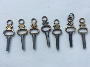 Antique Pocket Watch Keys (7)