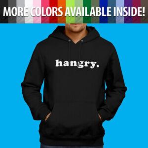 Hangry Hungry Angry Mood Funny Lunch Dinner Foodie Sweatshirt Hoodie Sweater
