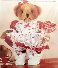 """Valentine's Day Girl Costume for 12"""" Bear or Doll Tender Heart Treasures Nip"""
