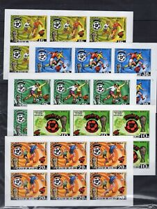 6x  Football World Cup  Sport  on stamps  imperf.  MNH** AK
