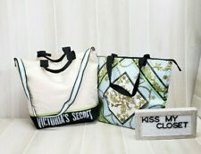 Victoria's Secret Insulated Cooler Tote Canvas Baroque Carry 2 bag set All in 1