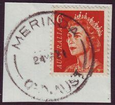 "QUEENSLAND POSTMARK ""MERINDA"" ON 6c QEII DATED 1971 (A1633)"