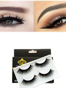 Reusable 3D Thick Natural Extended False Eyelash Set