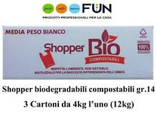 SHOPPER BIODEGRADABILE COMPOSTABILE MEDIE 14GR - 12KG