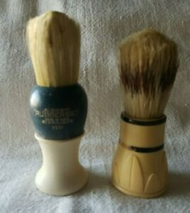 Two Vintage Shaving Brushes-.Strong Set and Rubberset