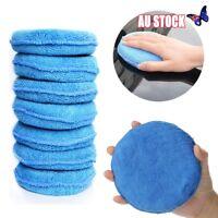10 x Microfibre Foam Sponge Polish Wax Applicator Pads Car Home Cleaning Blue AU