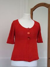 "PER UNA M&S CORAL KNIT CARDIGAN SIZE SMALL BUST 36"" BRAND NEW WITHOUT TAGS"