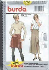Burda 3058 Pattern SKIRT 2 Lengths ~ Closing Fitting Front Slit ~ Misses 8-18