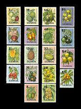 SAMOA. Local Fruits. 1983-84. Scott 601-618. MNH (17)