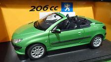 PEUGEOT 206 CC Cabriolet Convertible vert au 1/18 d GATE 01273 voiture miniature