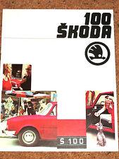 1974-77 SKODA 100 Sales Brochure - Fantastic Condition!