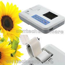 Una máquina de ECG Electrocardiógrafo digital de Canal EKG máquina portátil CE, papel