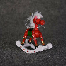 "3 3/4"" Wood Rocking Horse Ornament  (6 Pieces Sale)"